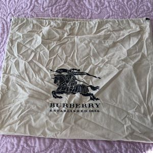 Burberry dust bag.